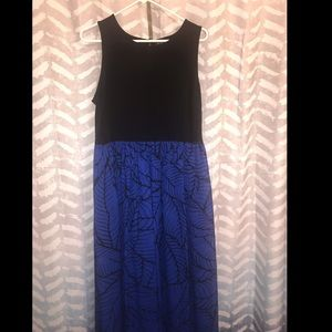 Black & Blue Maxi Dress